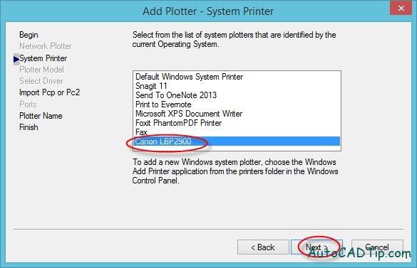 Add Plotter- System Printer