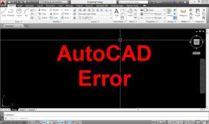 AutoCAD error and tip fix error
