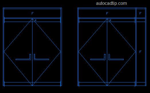 This is one of double door in AutoCAD block door.