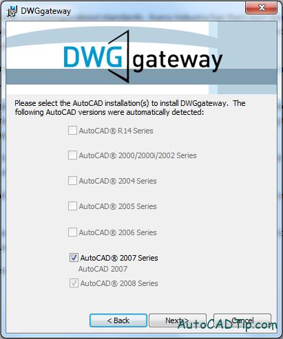 dwggateway plugin install