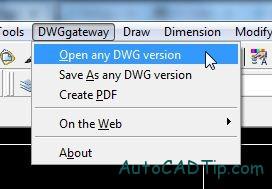 dwggateway plugin open
