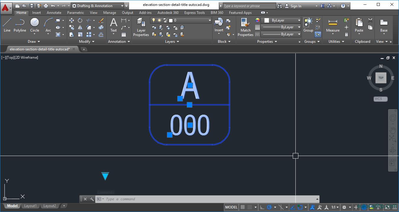Download Elevation Section Detail Title Symbol Autocad