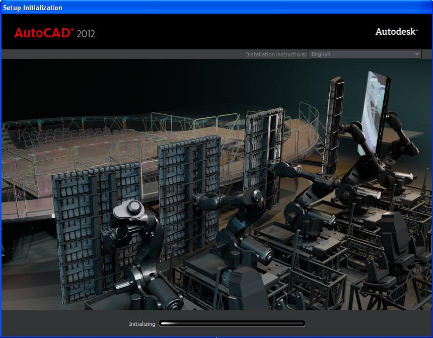 Install AutoCAD 2012, run setup.exe file