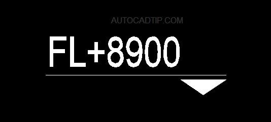 Level symbol block autocad, style 3