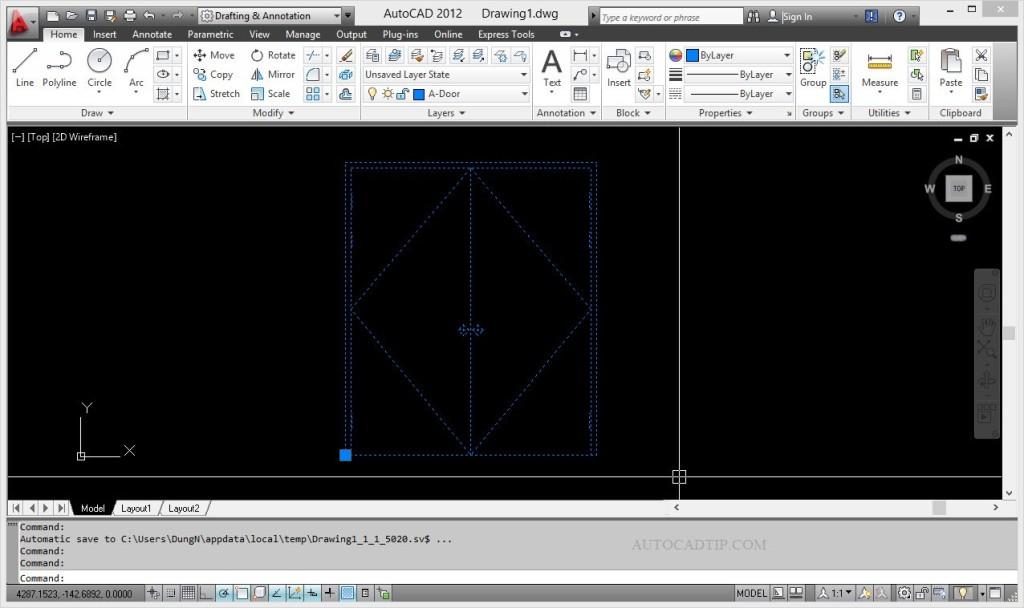 Add Move ation dynamic block AutoCAD-01