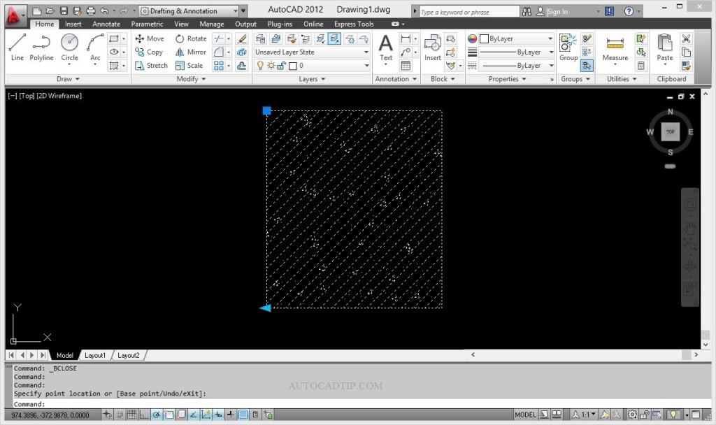 New base point dynamic block AutoCAD
