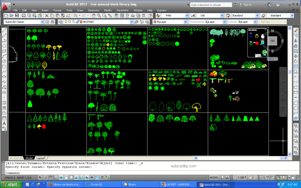 Tree collection, AutoCAD block tree
